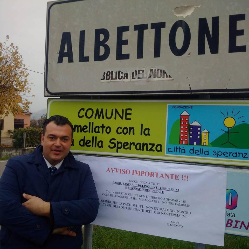 """Nel Vicentino il sindaco sceriffo: """"Violate le case e vi spariamo"""""""