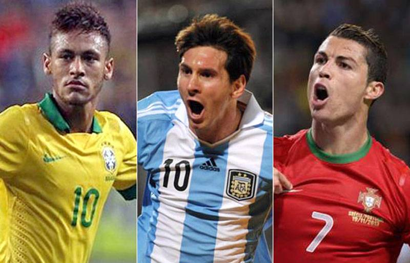 Pallone d'oro: Messi, Ronaldo e Neymar sono i finalisti