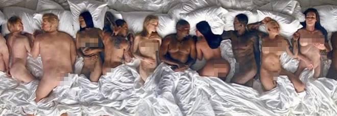 Kanye West: orgia di vip nel nuovo video musicale