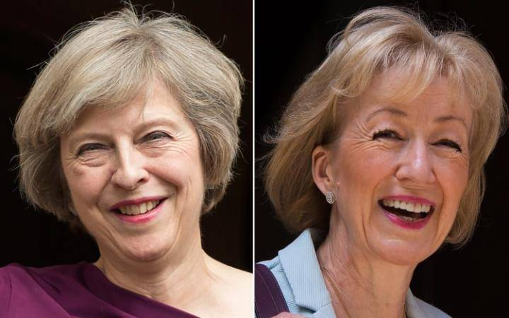 Le due candidate a Downing Street: a sinistra, Theresa May; a destra, Andrea Leasdom