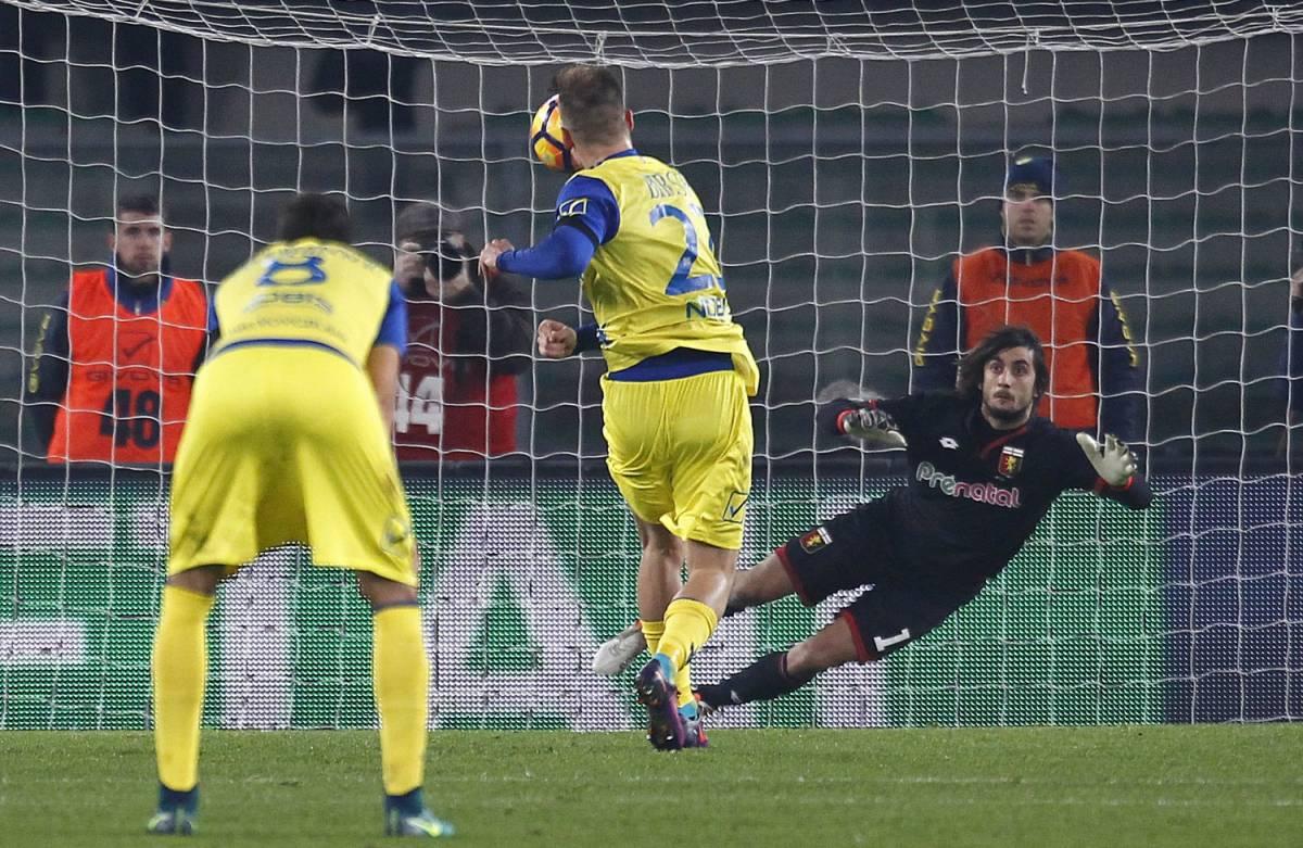 Il Chievo sbaglia un rigore, il Genoa ringrazia: finisce 0-0