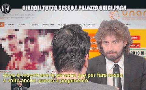 """Inchiesta choc de Le Iene: """"Palazzo Chigi finanzia prostituzione gay"""""""