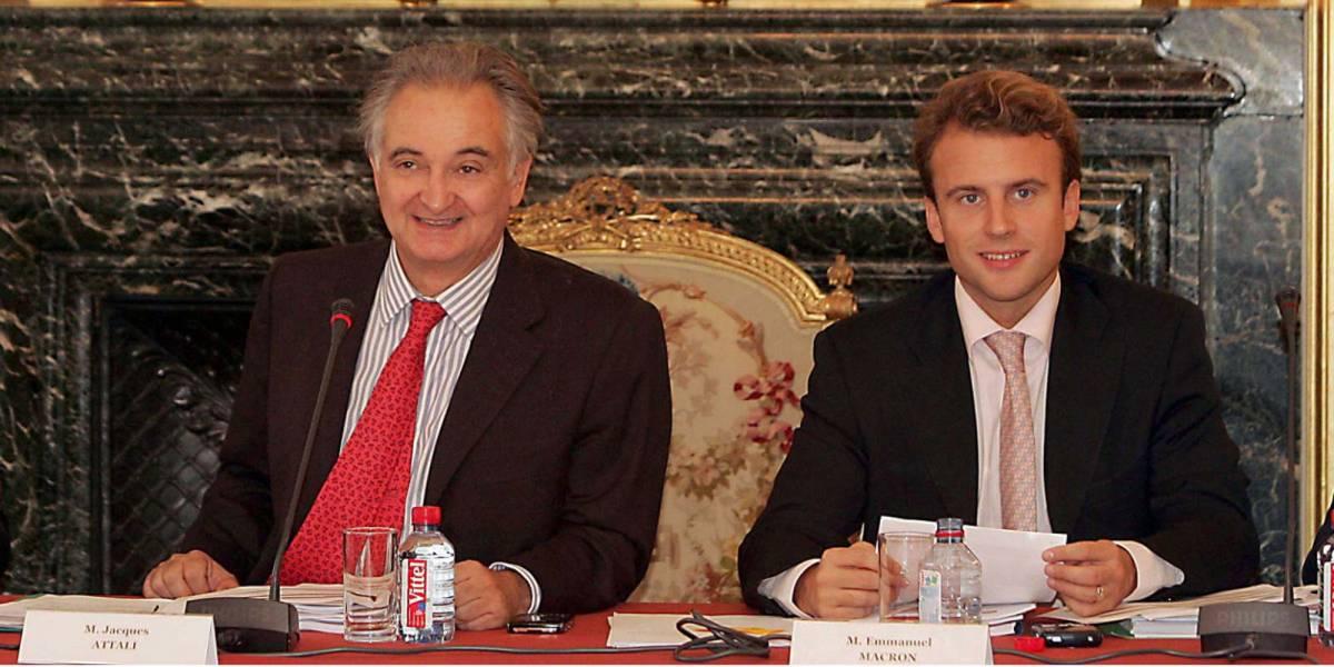 Jacques Attali assieme a Macron