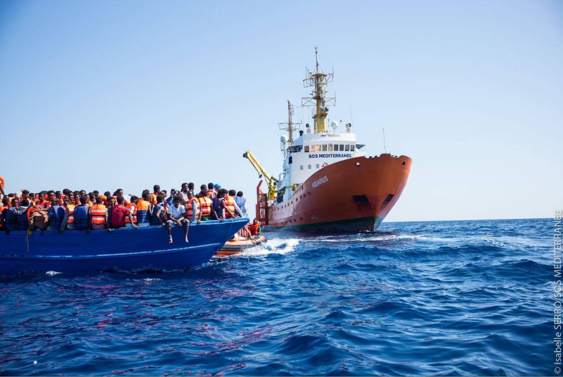 Foto dell'area stampa di Sos Mediterranèe