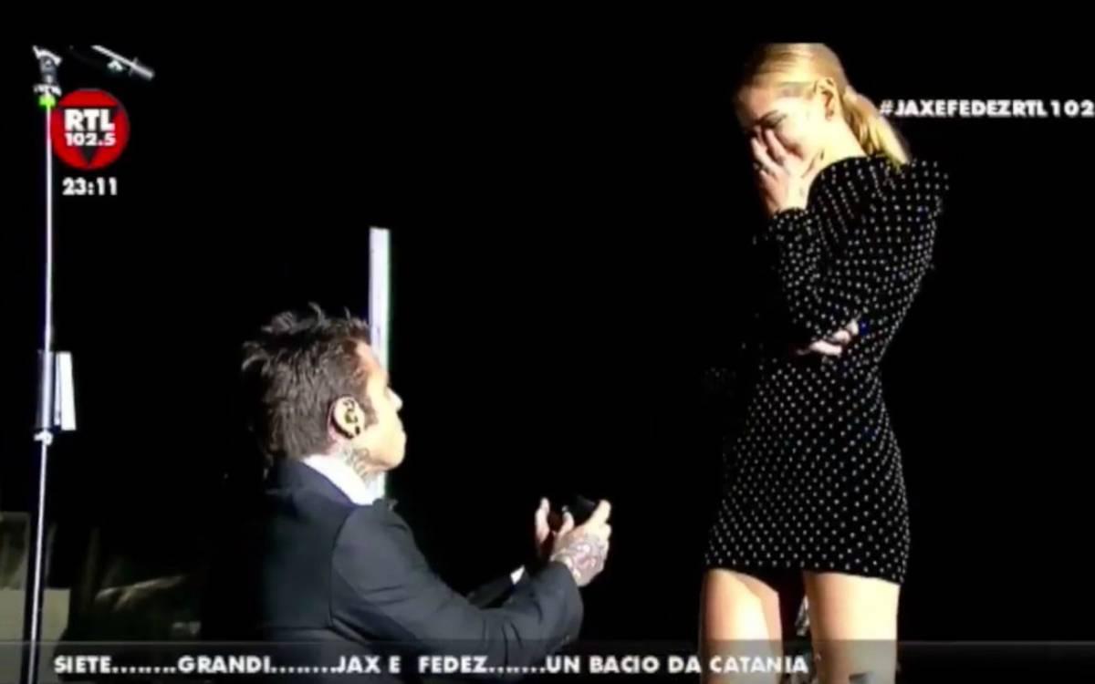 Fedez e la proposta di matrimonio a Chiara Ferragni