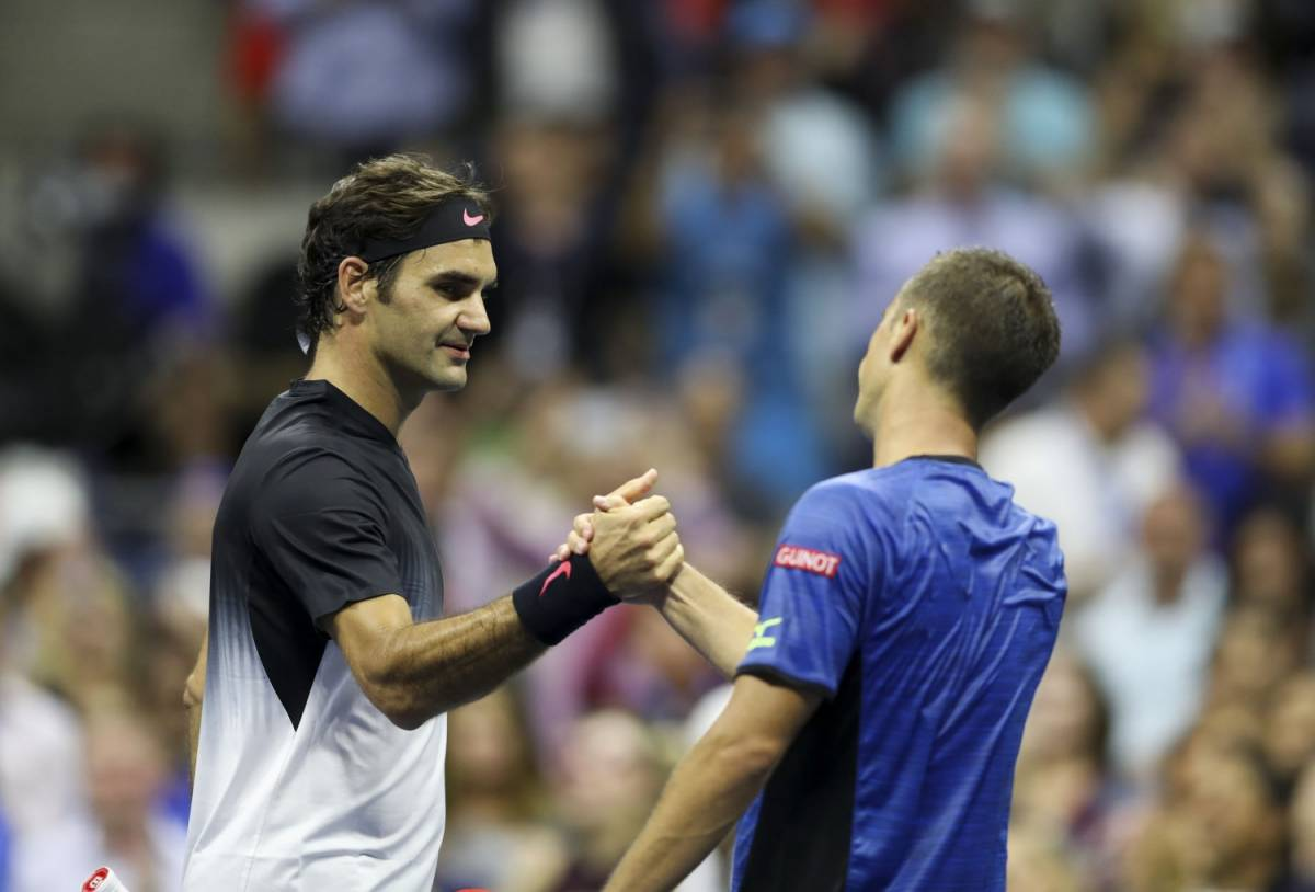 Federer sbatte contro Del Potro: out ai quarti degli Us Open