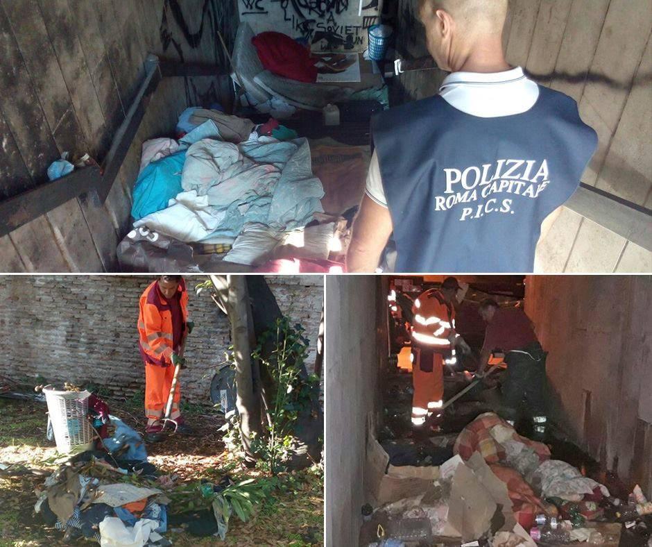 Roma, smantellate le favelas di Porta Pia