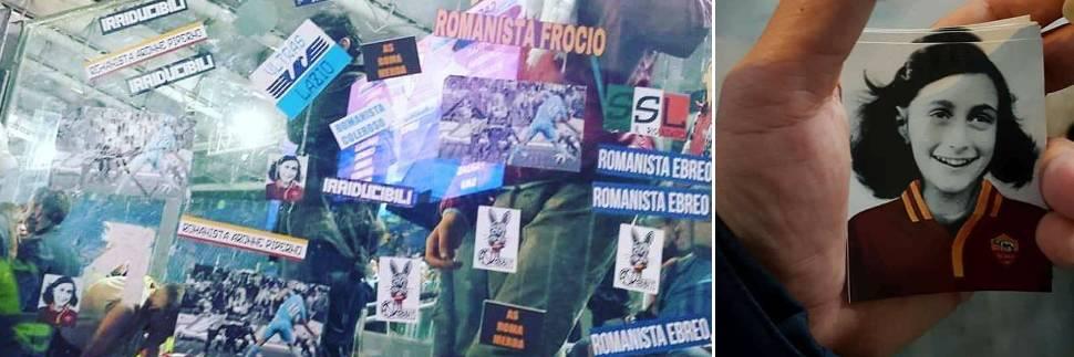 Adesivi choc con Anna Frank: è bufera sugli ultrà della Lazio