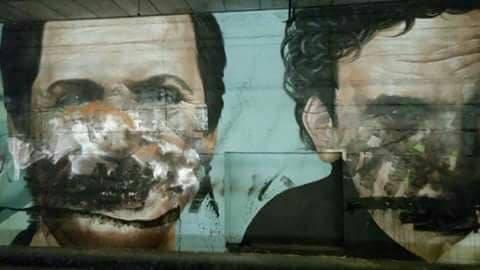 Vandalizzato il murale di Massimo Troisi