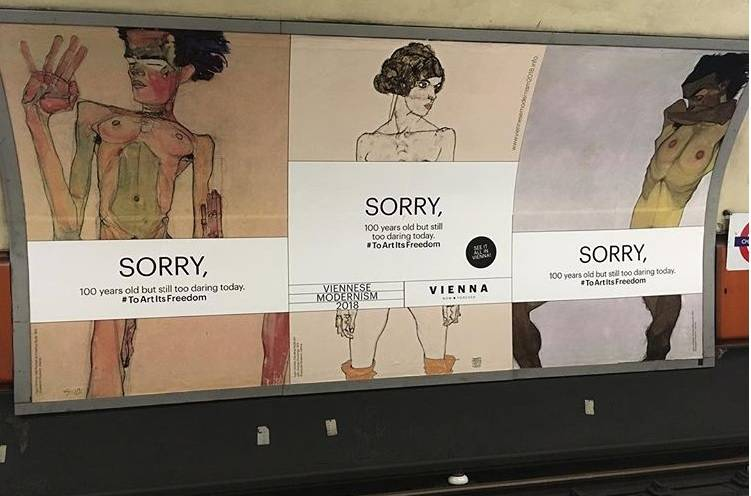 """Londra, censurati i nudi di Schiele: """"Sono troppo audaci per la metropolitana"""""""