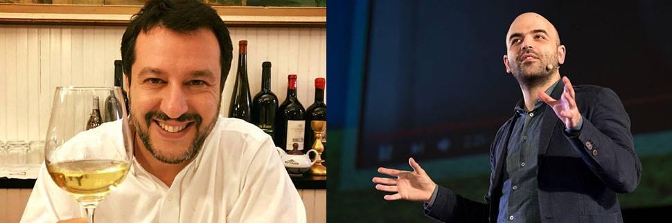 """Salvini: """"Saviano con l'Ong ha fatto un'altra bella figura"""""""