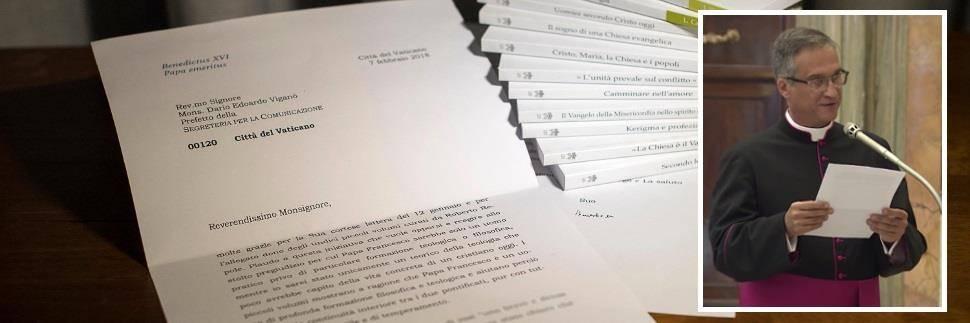 "Lettera di Ratzinger ""tagliata"": si dimette monsignor Viganò"