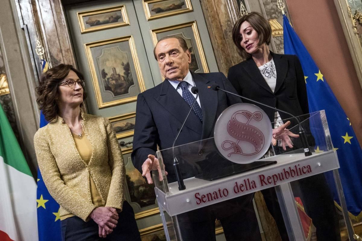 Maria Stella Gelmini, Silvio Berlusconi e Anna Maria Bernini