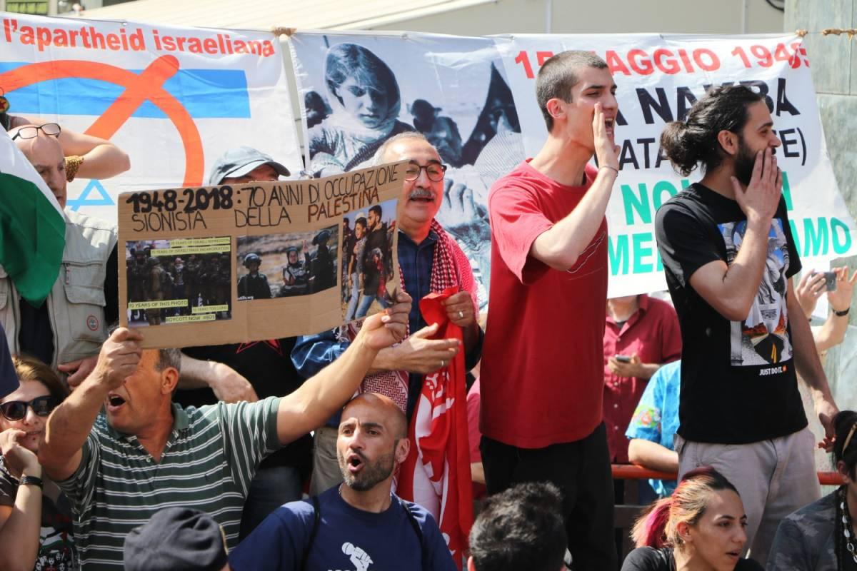 Proteste contro Israele al corteo di Milano per il 25 aprile