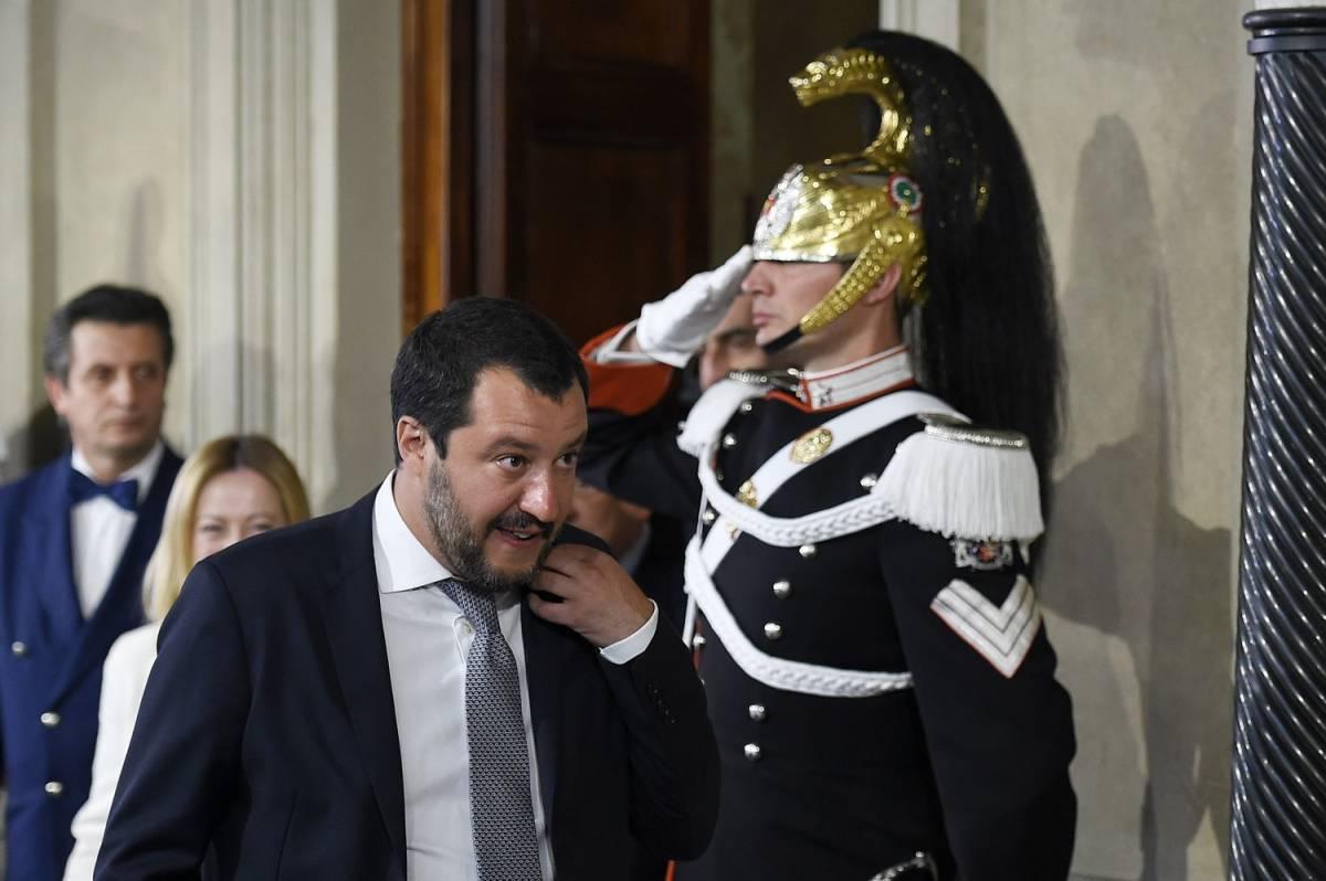 """Salvini: """"Un esecutivo di centrodestra o si ritorni al voto in estate"""""""