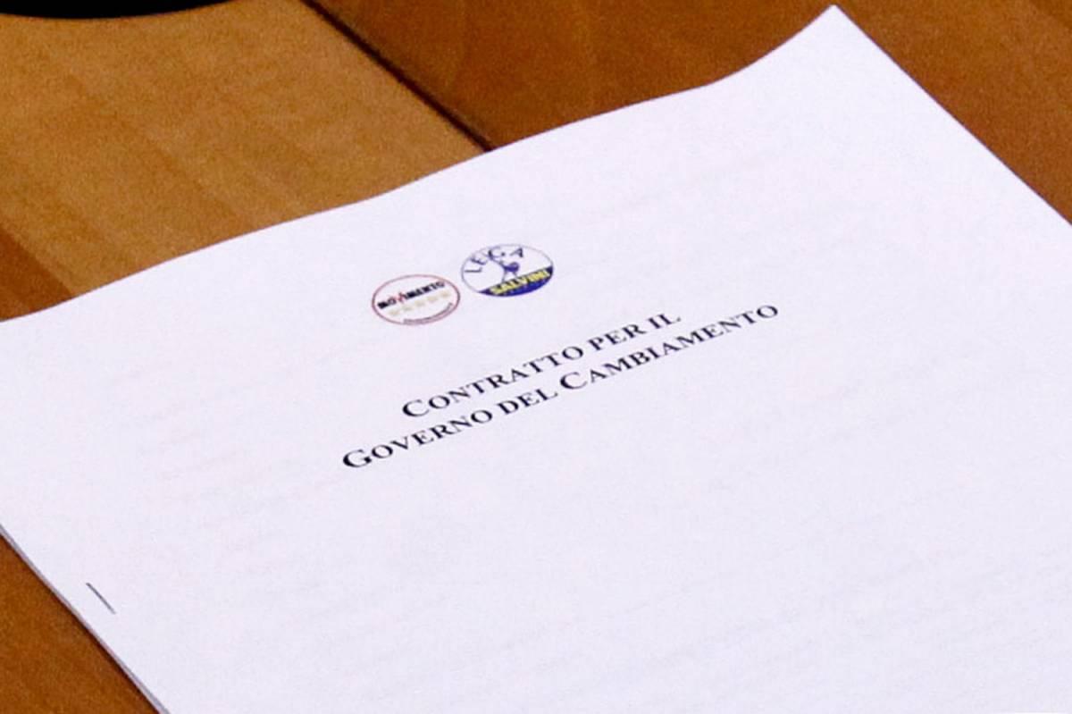 Il contratto di governo firmato da Lega e M5s