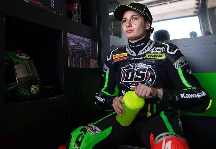 Ana Carrasco, la prima donna in testa a un Mondiale di moto
