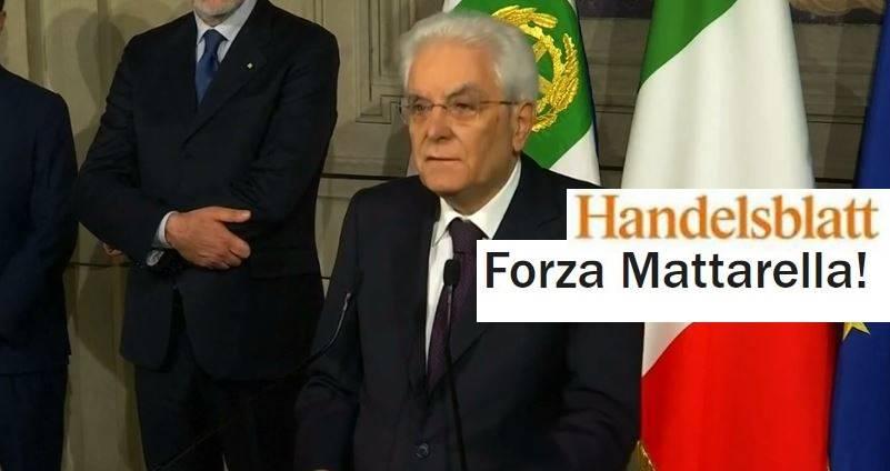 """La Germania fa il tifo: """"Forza Sergio Mattarella!"""""""