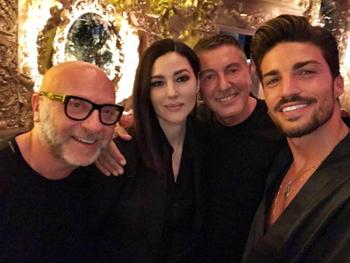 Milano Fashion Week, Mariano Di Vaio e Monica Bellucci aprono la sfilata di Dolce&Gabbana
