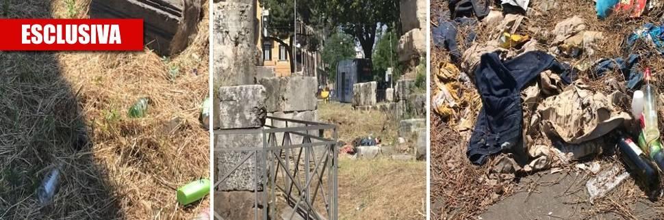 Roma, il sito archeologico di Porta Maggiore è una discarica a cielo aperto