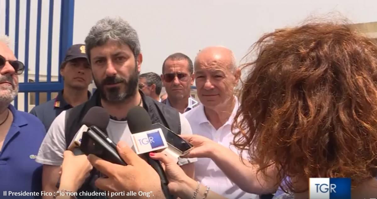 """E Fico incontra gli anti-Salvini: """"Migranti? Non puoi lasciarli in Libia"""""""