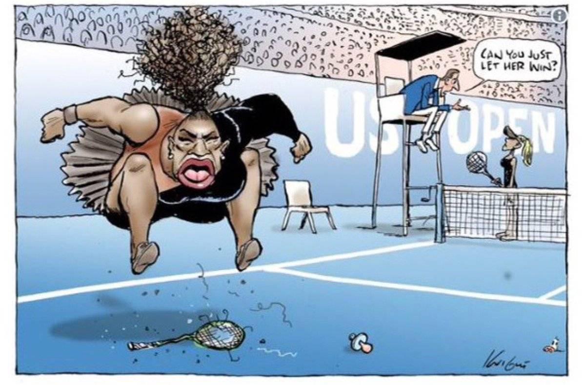 Vignettista accusato di razzismo per la caricatura di Serena Williams