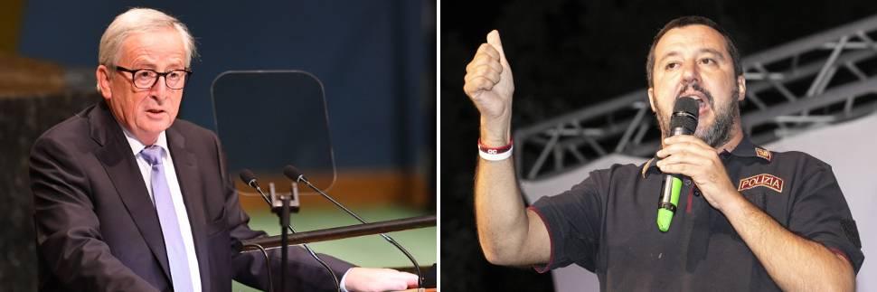 """Salvini contro Juncker: """"Italia è Paese sovrano"""""""
