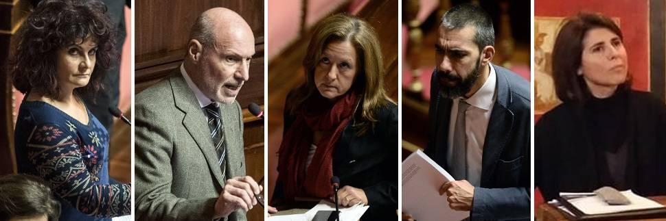 Ecco i nomi dei cinque grillini che non vogliono l'Italia sicura