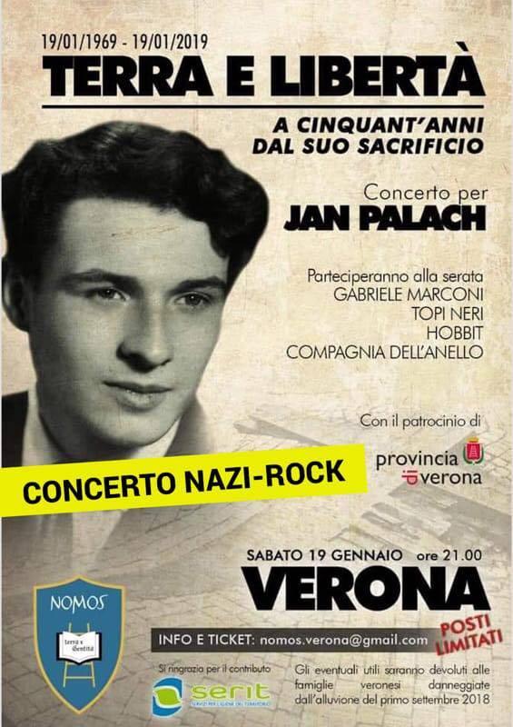 """""""Quello è rock nazista"""". Il concerto per Jan Palach nel mirino della sinistra"""