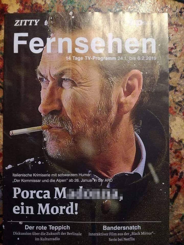 Clamorosa gaffe della rivista: annuncia Rocco Schiavone con una bestemmia