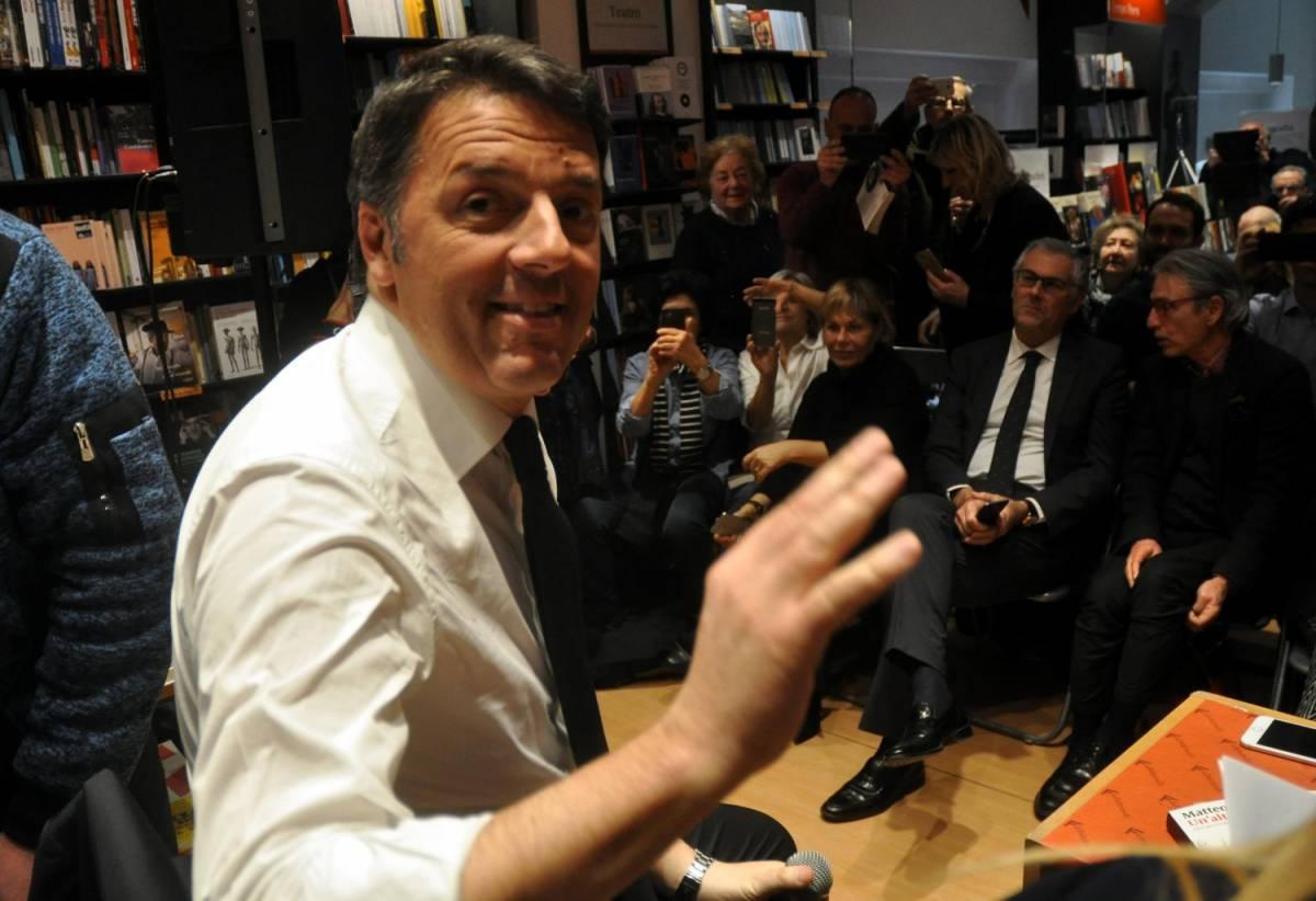 Matteo Renzi alla Feltrinelli di Palermo