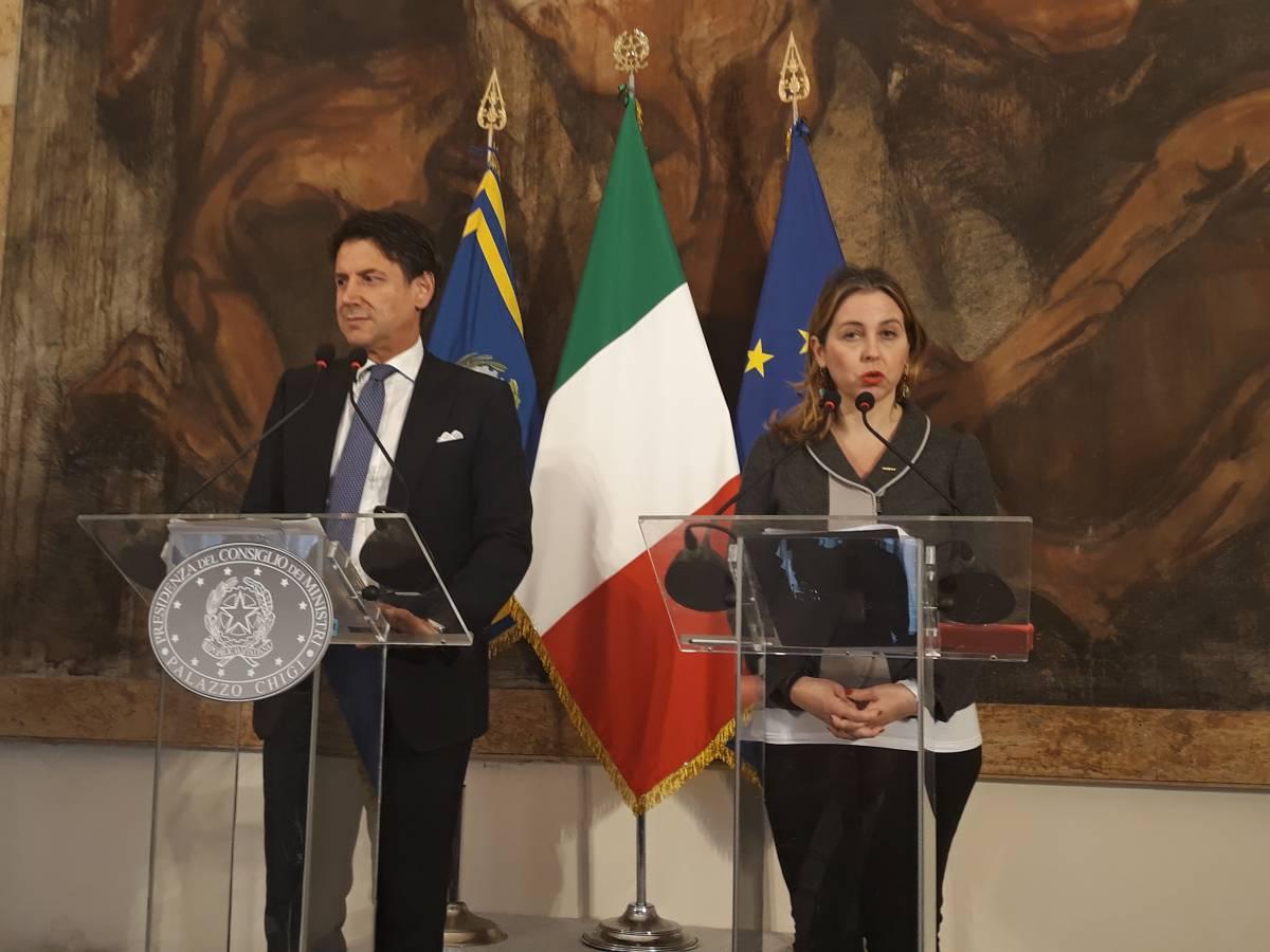 Conte e Grillo dopo il Consiglio dei ministri a Reggio Calabria