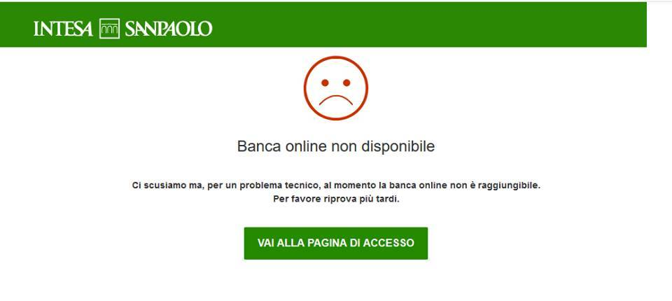 Banca Intesa San Paolo, non funziona l'area utenti dell'home banking: disagi in tutta Italia