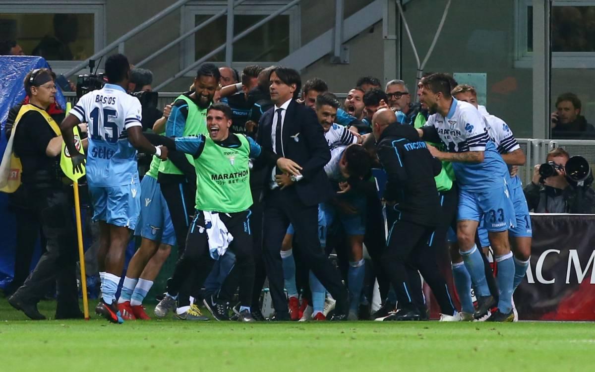Coppa Italia, la Lazio stende il Milan 1-0 e vola in finale