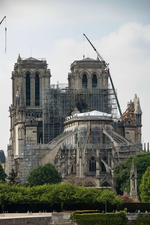 Notre Dame, prima messa dopo l'incendio: casco obbligatorio