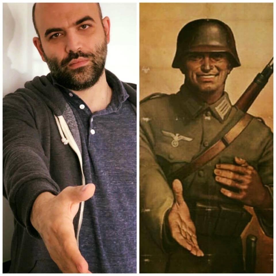 Saviano come il soldato nazista. Epic fail sulla foto anti-Salvini