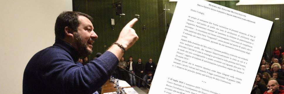 """Così Salvini inchioda Conte: """"Scelta collegiale, lo provano sette mail"""""""