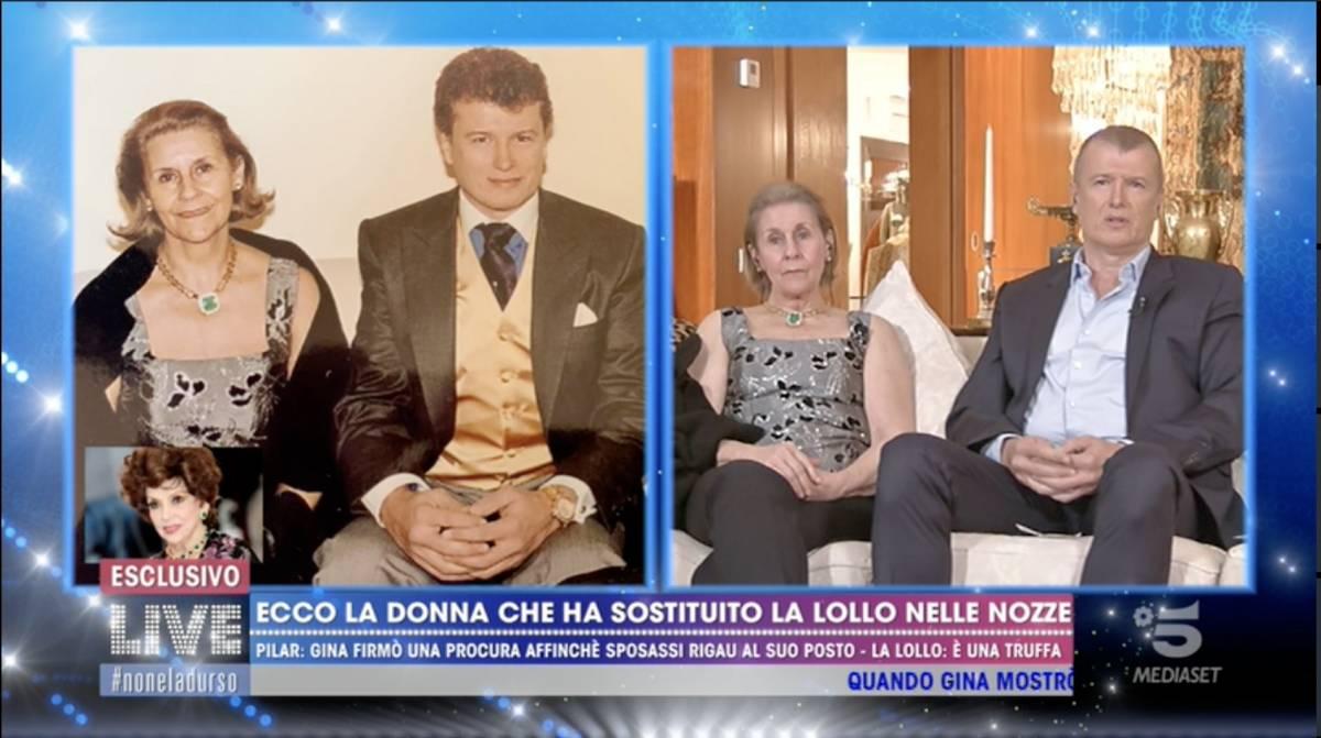 """Pilar: """"Fu Gina Lollobrigida ad organizzare il matrimonio per procura"""""""