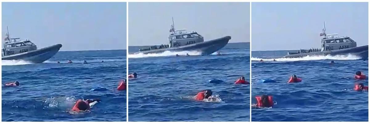 Un momento dell'azione della Guardia Costiera maltese dell'11 aprile scorso