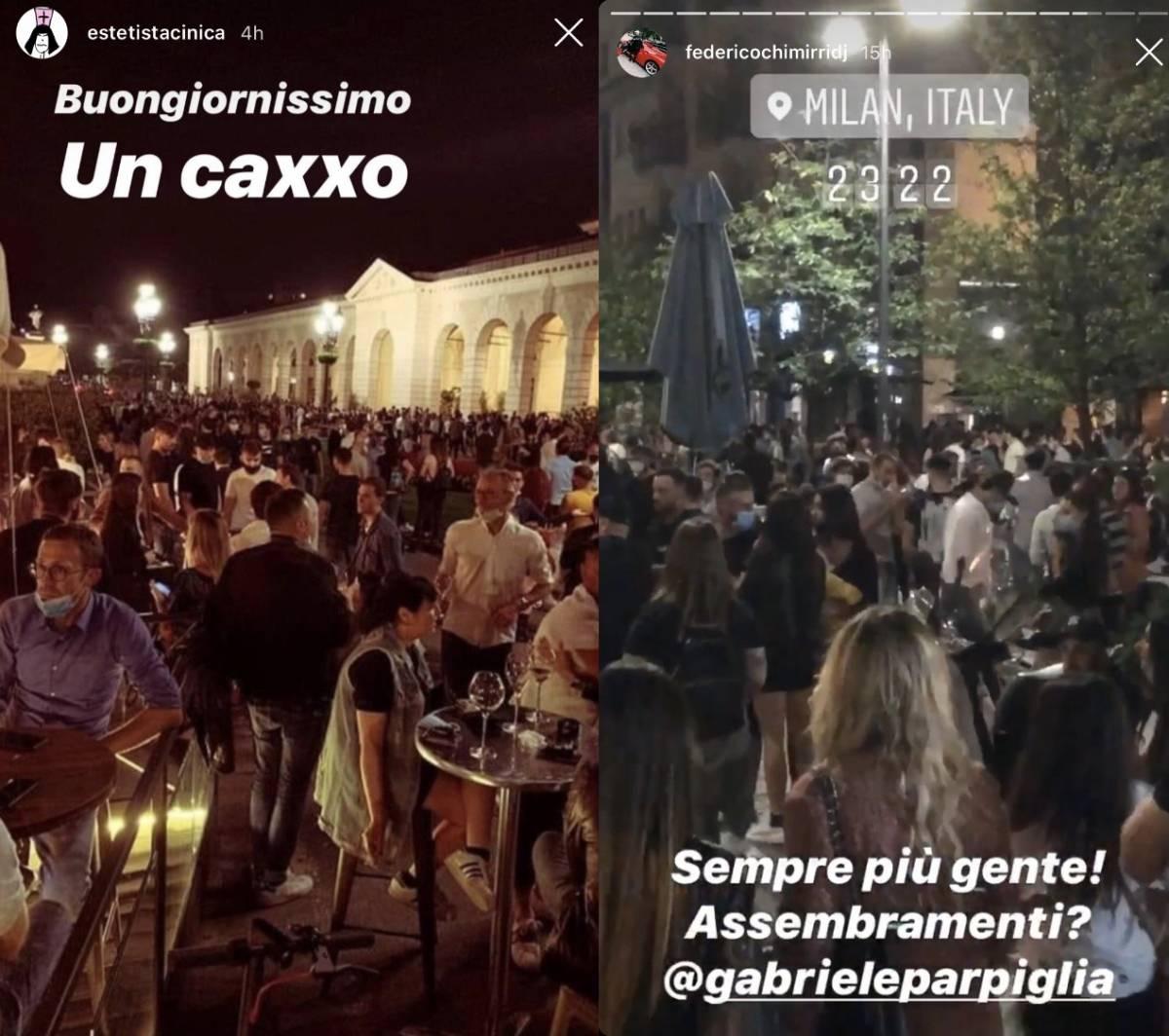 """L'ira degli influencer contro la movida: """"La gente sputava addosso ai vigili"""""""