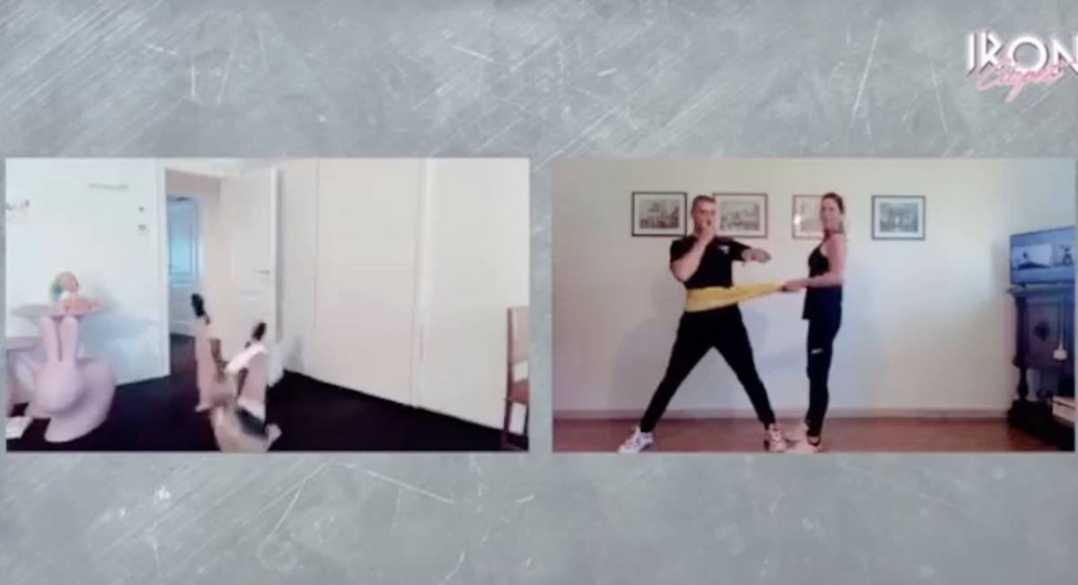 Michelle Hunziker si allena ma qualcosa non va: la caduta è disastrosa