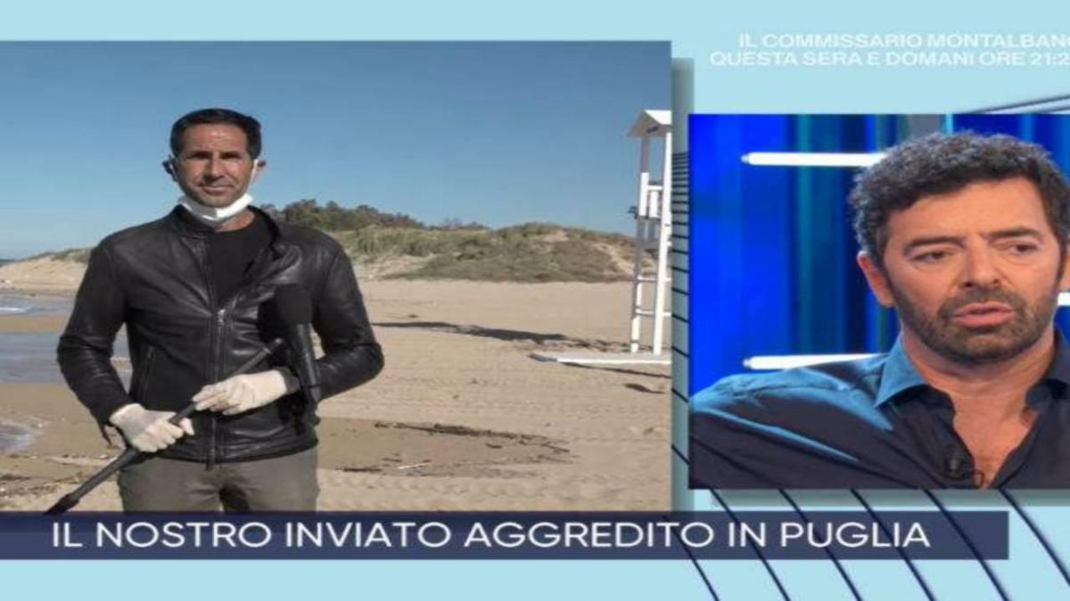 """La Vita in Diretta, aggredito inviato: """"Se la gente ti butta a mare fa bene"""""""