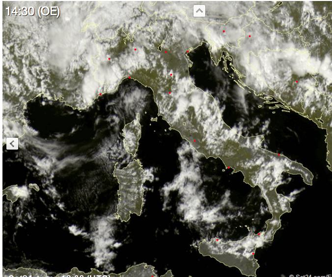 Maltempo al Centro-Nord: ancora temporali e nubifragi
