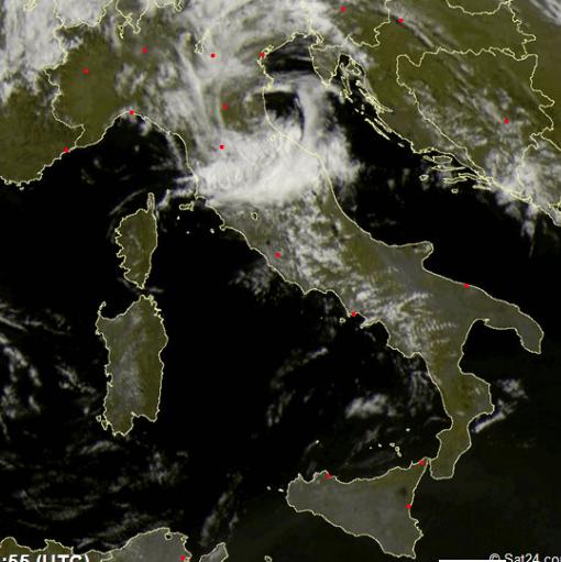 Vortice ciclonico al Nord: sarà maltempo a oltranza