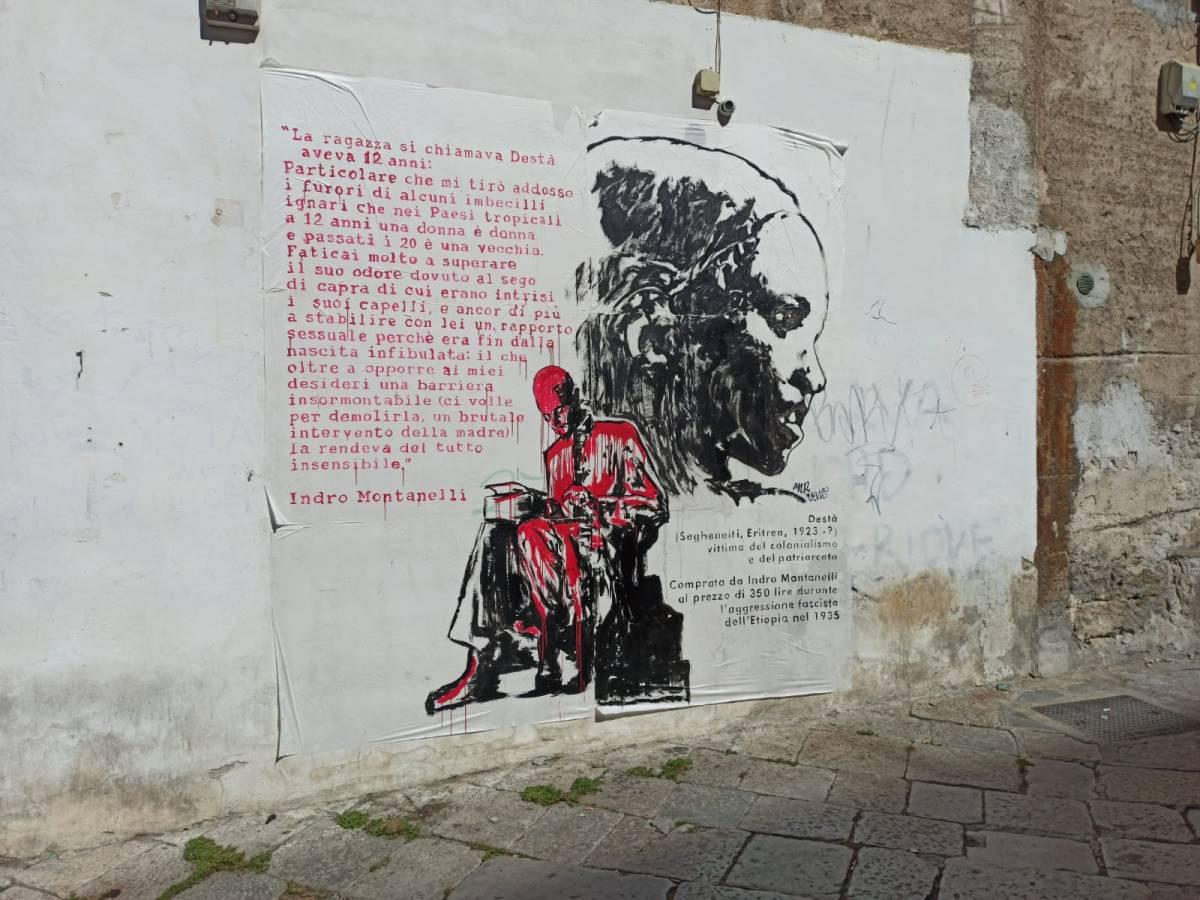 Il murales choc contro Montanelli: l'ultimo sfregio al giornalista