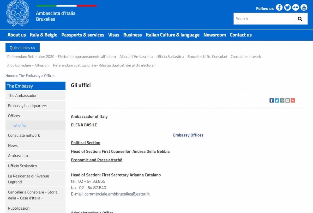 La gaffe dell'ambasciata italiana: se cerchi l'ufficio scolastico finisci su un sito porno