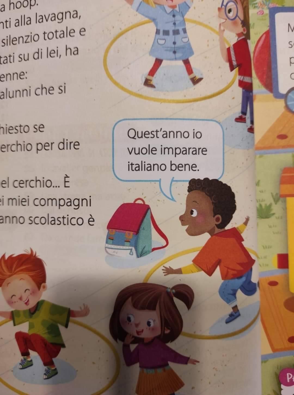 """Scuola, bufera su libro: """"Io vuole imparare italiano..."""""""