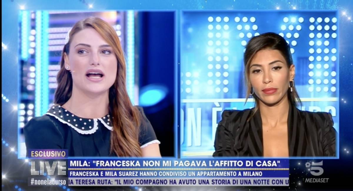 Tra Franceska Pepe e Mila Suarez volano stracci