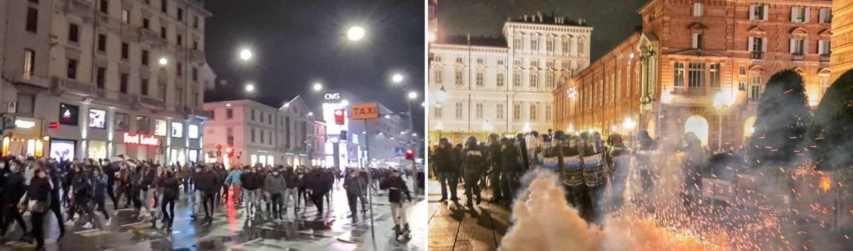 Milano, le molotov sulla polizia Scontri a Torino: 2 agenti feriti