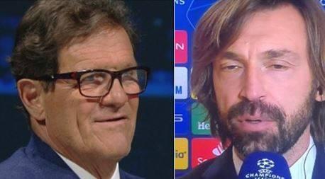 """Capello a testa bassa contro la Juve. Scintille con Pirlo in tv: """"Mediocre"""""""